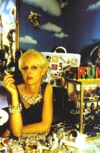 a photo by friend Nan Goldin, at the shop Greer's husband owned